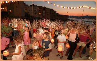 festa1 Meu niver Queima de fogos em Saint Tropez