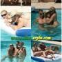 Elisa de férias nua na piscina com os amigos