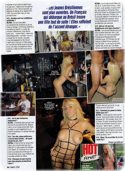 hotvideo33 Elysa: Reportagem para a Revista Hot Vidéo